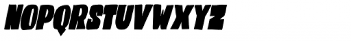 Codswallop Extra Condensed Italic Font LOWERCASE