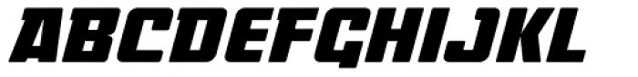Coffee Milk Caps NDP Italic Font UPPERCASE