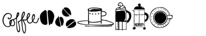 Coffee Tea Doodles Font UPPERCASE