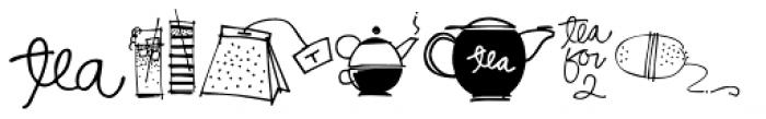 Coffee Tea Doodles Font LOWERCASE