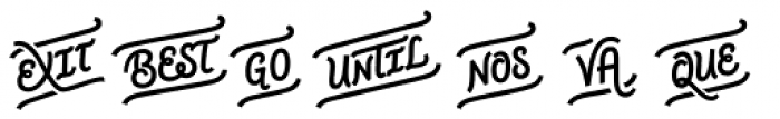 CoffeeBreak Words Bold Font UPPERCASE