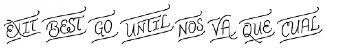 CoffeeBreak Words Font UPPERCASE