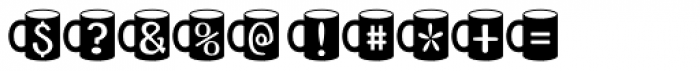 CoffeeMug Font OTHER CHARS