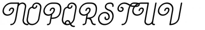 Coklat Sunda Slant Font UPPERCASE