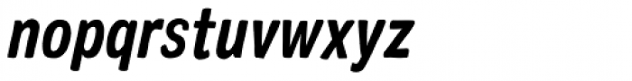 Colby Condensed Bold Italic Font LOWERCASE