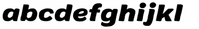 Colby Extended Black Italic Font LOWERCASE