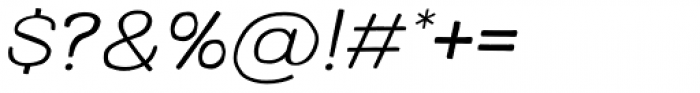 Colby Wide Extra Light Italic Font OTHER CHARS