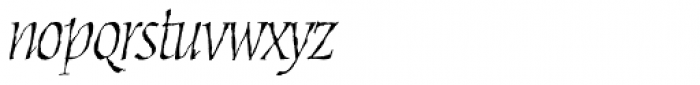 Cold Mountain Sx Italic Font LOWERCASE