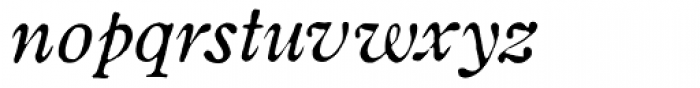Coldstyle Italic Font LOWERCASE