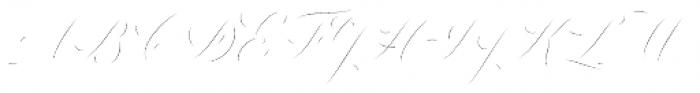Colesberg Script Inline Font UPPERCASE