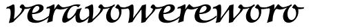 Colombine Medium Ligatures Font UPPERCASE