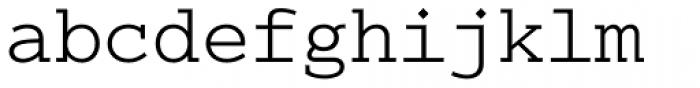 Colon Mono Light Font LOWERCASE