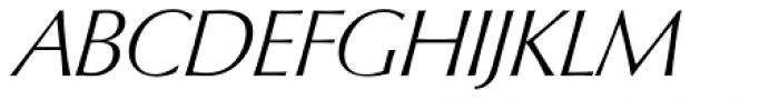 Columbia Serial ExtraLight Italic Font UPPERCASE