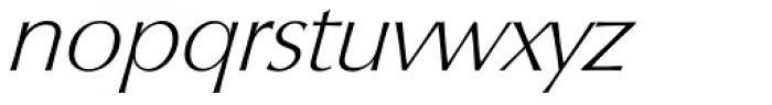Columbia Serial ExtraLight Italic Font LOWERCASE