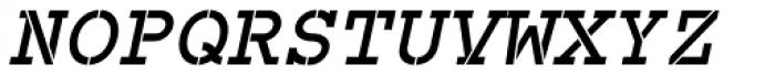 Combat Ready BTN Oblique Font UPPERCASE