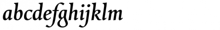 Combi Italic Medium Font LOWERCASE