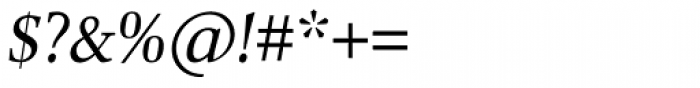 Combi Serif Book Oblique Font OTHER CHARS