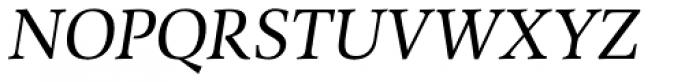 Combi Serif Book Oblique Font UPPERCASE