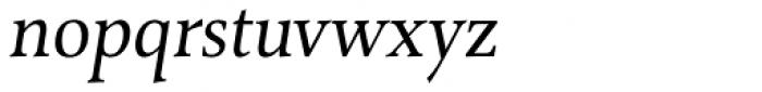 Combi Serif Book Oblique Font LOWERCASE