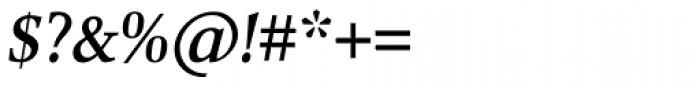 Combi Serif Medium Oblique Font OTHER CHARS