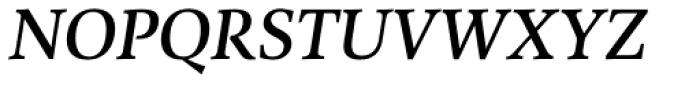Combi Serif Medium Oblique Font UPPERCASE