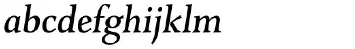 Combi Serif Medium Oblique Font LOWERCASE