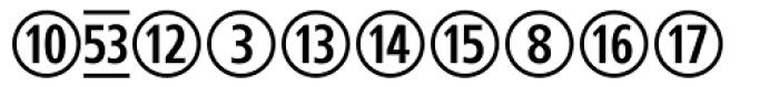 CombiNumerals Pro Font LOWERCASE