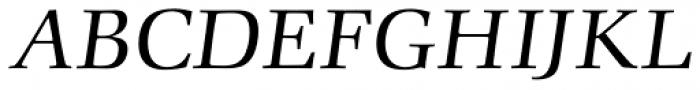 Comenius Antiqua Italic Font UPPERCASE