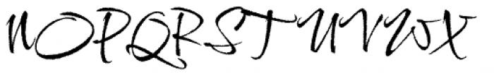 Comforter Brush Font UPPERCASE