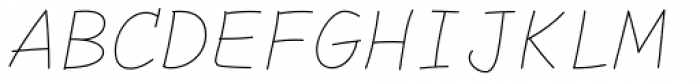 Comic Code Ligatures Thin Italic Font UPPERCASE