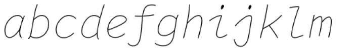 Comic Code Ligatures Thin Italic Font LOWERCASE