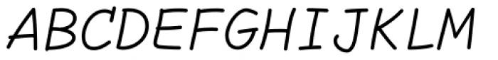 Comic Code Light Italic Font UPPERCASE