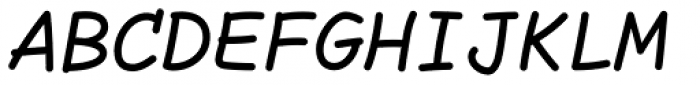 Comic Code Medium Italic Font UPPERCASE