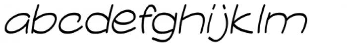 Comicblast Condensed Italic Font LOWERCASE