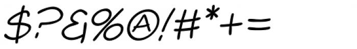 Comicblast Italic Font OTHER CHARS
