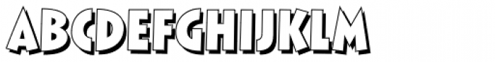 Comixed RP Bold Outline Font UPPERCASE
