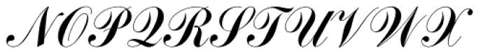 Commercial Script EF Font UPPERCASE