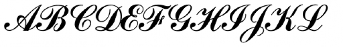 Commercial Script MN Font UPPERCASE