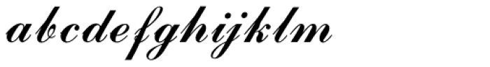 Commercial Script MN Font LOWERCASE