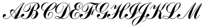Commercial Script SB Reg Font UPPERCASE