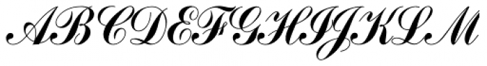 Commercial Script SH Reg Font UPPERCASE