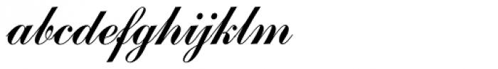 Commercial Script SH Reg Font LOWERCASE