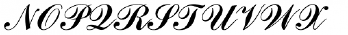 Commercial Script Font UPPERCASE