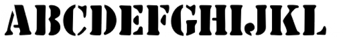 Common Stencil JNL Font UPPERCASE