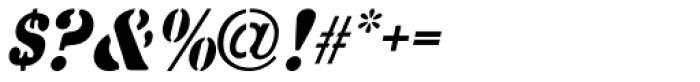 Common Stencil Oblique JNL Font OTHER CHARS