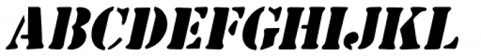 Common Stencil Oblique JNL Font LOWERCASE