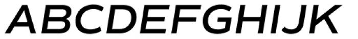 Commuters Sans Semi Bold Italic Font UPPERCASE