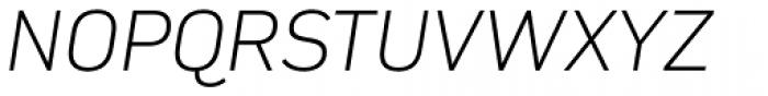 Compasse Extra Light Italic Font UPPERCASE