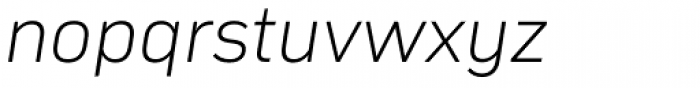 Compasse Extra Light Italic Font LOWERCASE