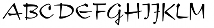 Compliment Font UPPERCASE